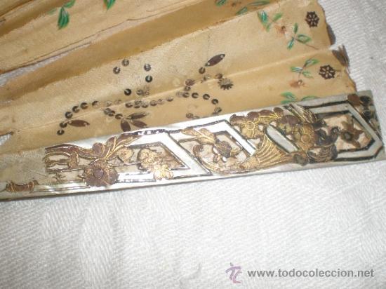 Antigüedades: ABANICO DE NACAR PARA RESTAURAR - Foto 2 - 34127018