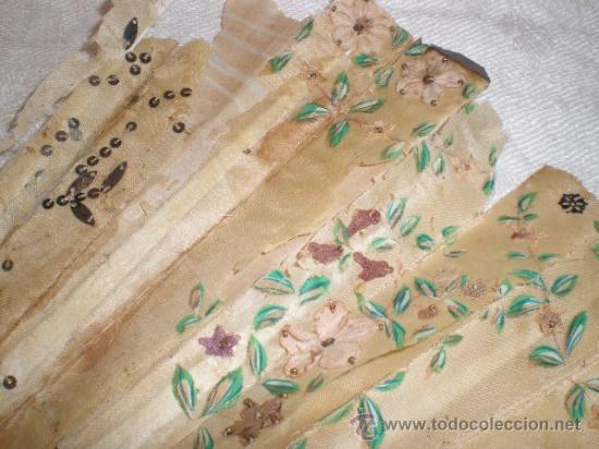 Antigüedades: ABANICO DE NACAR PARA RESTAURAR - Foto 5 - 34127018