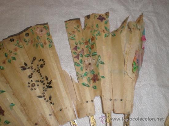Antigüedades: ABANICO DE NACAR PARA RESTAURAR - Foto 4 - 34127018