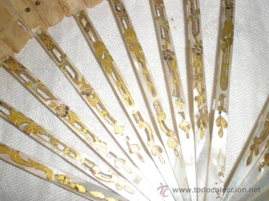 Antigüedades: ABANICO DE NACAR PARA RESTAURAR - Foto 3 - 34127018