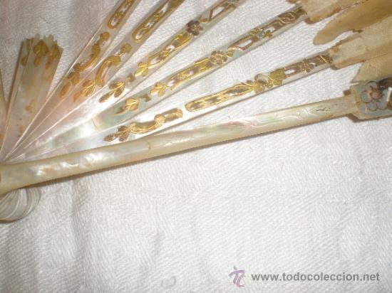 Antigüedades: ABANICO DE NACAR PARA RESTAURAR - Foto 8 - 34127018