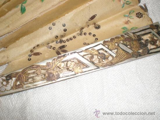 Antigüedades: ABANICO DE NACAR PARA RESTAURAR - Foto 7 - 34127018