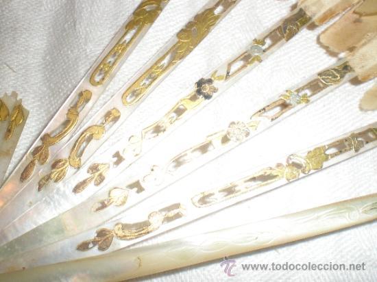 Antigüedades: ABANICO DE NACAR PARA RESTAURAR - Foto 11 - 34127018