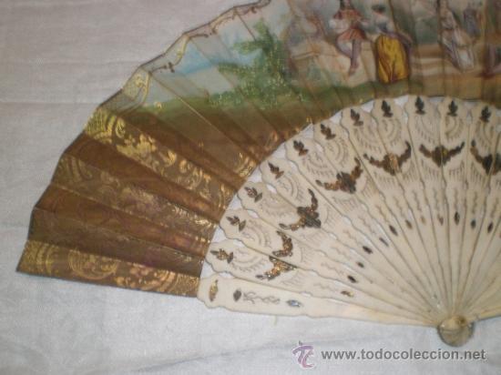 Antigüedades: abanico de hueso y oro isabelino - Foto 8 - 34126814