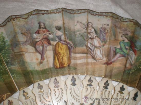 Antigüedades: abanico de hueso y oro isabelino - Foto 7 - 34126814