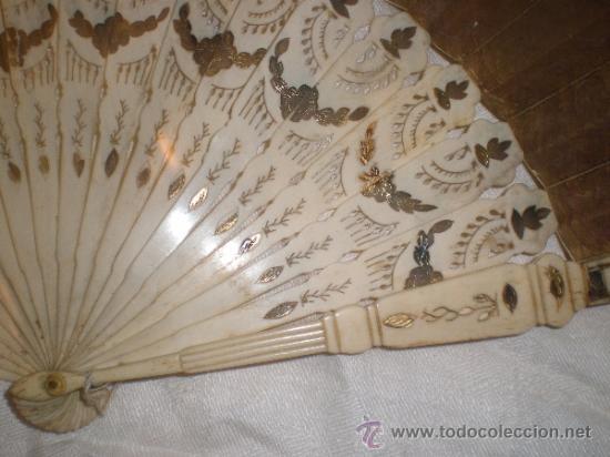 Antigüedades: abanico de hueso y oro isabelino - Foto 6 - 34126814