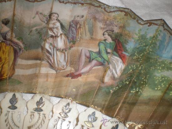 Antigüedades: abanico de hueso y oro isabelino - Foto 17 - 34126814
