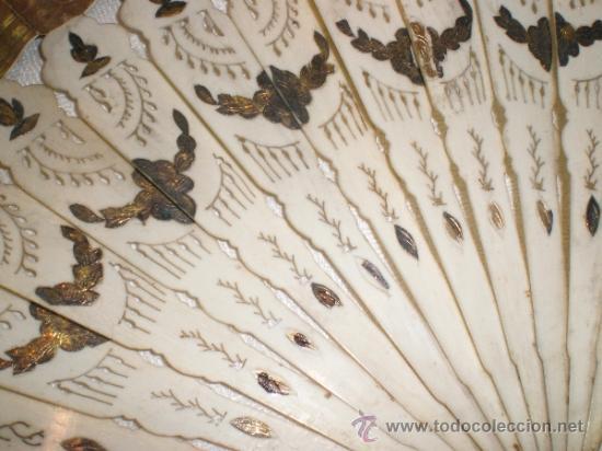 Antigüedades: abanico de hueso y oro isabelino - Foto 5 - 34126814