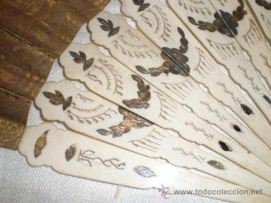 Antigüedades: abanico de hueso y oro isabelino - Foto 9 - 34126814
