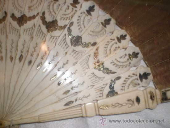 Antigüedades: abanico de hueso y oro isabelino - Foto 10 - 34126814