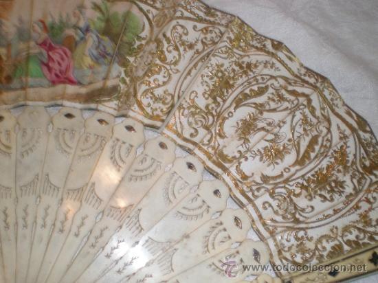 Antigüedades: abanico de hueso y oro isabelino - Foto 14 - 34126814