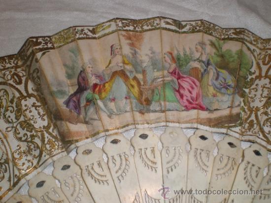 Antigüedades: abanico de hueso y oro isabelino - Foto 11 - 34126814