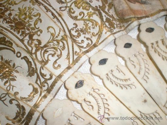 Antigüedades: abanico de hueso y oro isabelino - Foto 4 - 34126814