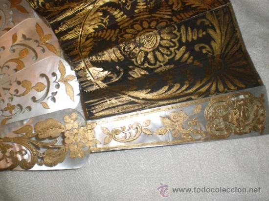 Antigüedades: abanico de nacar isalelino madreperla - Foto 26 - 34126746