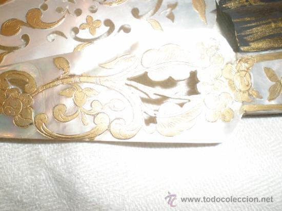 Antigüedades: abanico de nacar isalelino madreperla - Foto 25 - 34126746