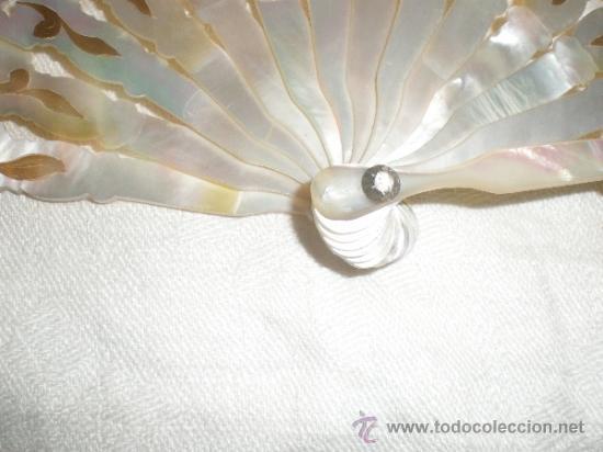 Antigüedades: abanico de nacar isalelino madreperla - Foto 22 - 34126746