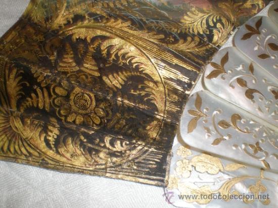 Antigüedades: abanico de nacar isalelino madreperla - Foto 21 - 34126746