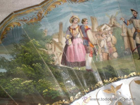 Antigüedades: abanico de nacar isalelino madreperla - Foto 20 - 34126746