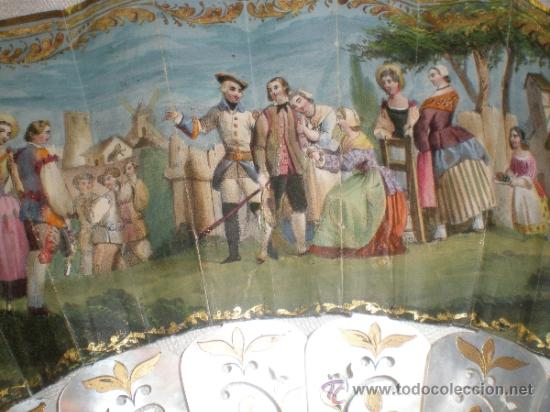 Antigüedades: abanico de nacar isalelino madreperla - Foto 19 - 34126746