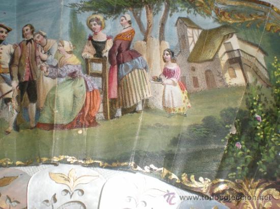Antigüedades: abanico de nacar isalelino madreperla - Foto 18 - 34126746