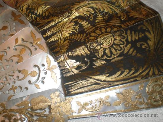 Antigüedades: abanico de nacar isalelino madreperla - Foto 16 - 34126746