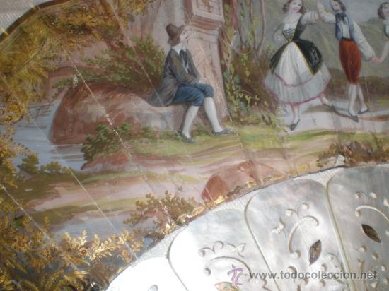 Antigüedades: abanico de nacar isalelino madreperla - Foto 13 - 34126746