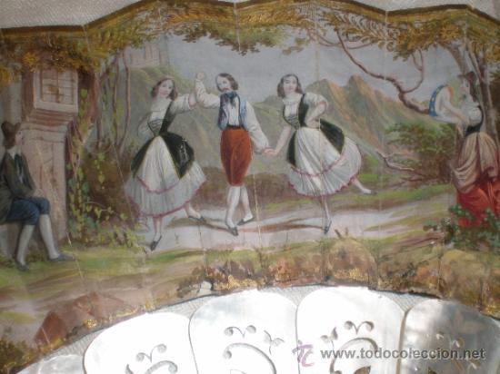 Antigüedades: abanico de nacar isalelino madreperla - Foto 8 - 34126746