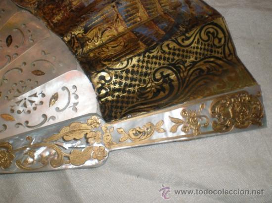 Antigüedades: abanico de nacar isalelino madreperla - Foto 7 - 34126746
