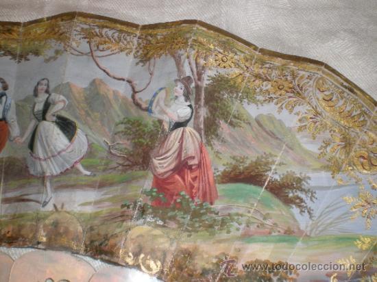 Antigüedades: abanico de nacar isalelino madreperla - Foto 10 - 34126746
