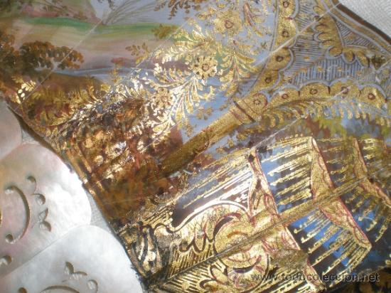 Antigüedades: abanico de nacar isalelino madreperla - Foto 6 - 34126746