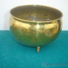 Antigüedades: PEQUEÑO MACETON DE METAL. Lote 34134216