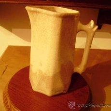 Antigüedades: ANTIGUA Y BELLA JARRA DE CERAMICA.COLOR CREMA CON CRAQUELADO.. Lote 34137574