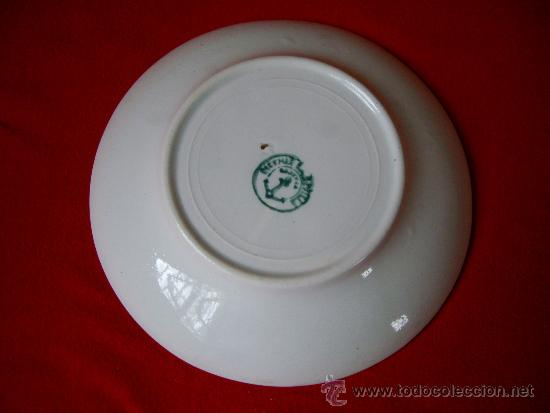 Antigüedades: JUEGO DE SEIS TAZAS DE CAFE CON SUS PLATOS ( PICKMAN - SEVILLA ) - Foto 2 - 34148048