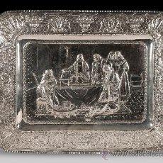 Antigüedades: IMPRESIONANTE FUENTE DE PLATA CON RELIEVES ESPAÑA SIGLO XX. Lote 34149238