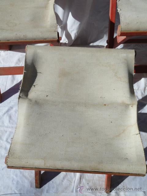 Antigüedades: LOTE DE 3 ANTIGUAS SILLAS DE CAMPING. - Foto 5 - 45299145