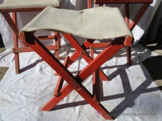 Antigüedades: LOTE DE 3 ANTIGUAS SILLAS DE CAMPING. - Foto 8 - 45299145