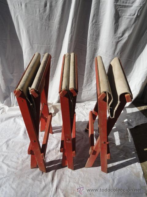 Antigüedades: LOTE DE 3 ANTIGUAS SILLAS DE CAMPING. - Foto 7 - 45299145
