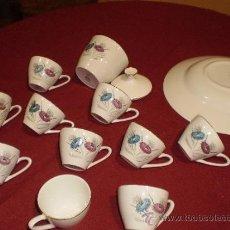 Antigüedades: TAZAS DE CAFE Y AZUCARERO ¡¡ MUY BONITO ¡¡. Lote 34172908