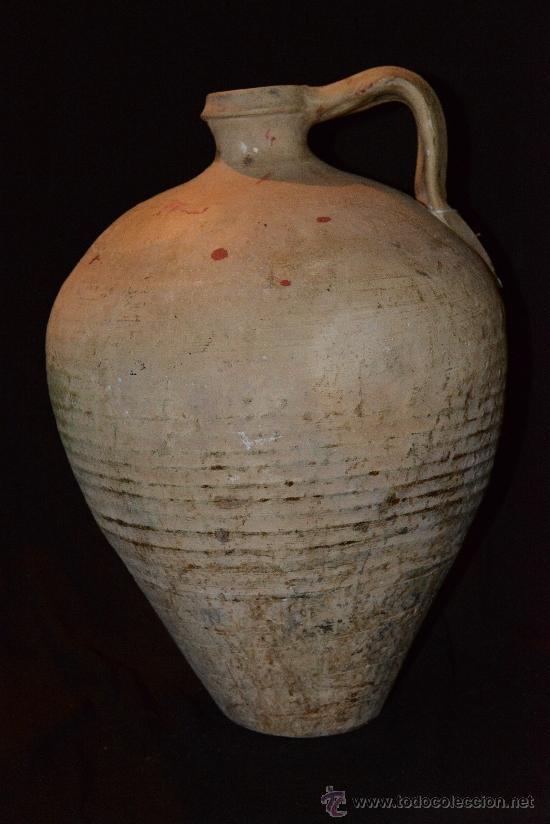MUY ANTIGUO Y PRECIOSO CÁNTARO DE LUCENA, BUENA CONSERVACIÓN Y BONITA PÁTINA (Antigüedades - Porcelanas y Cerámicas - Lucena)