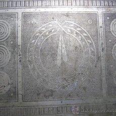 Antigüedades: ANTIGUA CAJA DE DESPACHO FF.SG.XIX. METAL CROMADO, DIBUJOS PARA PUROS. 1880-1890. Lote 34178806