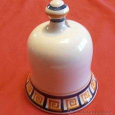 Antigüedades: CAMPANA DE CERAMICA DE TALAVERA FIRMADA. Lote 34185167