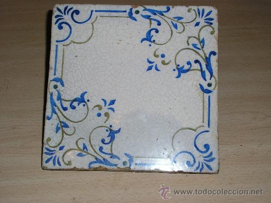 AZULEJO CATALAN DE 20 X 20 CM (Antigüedades - Porcelanas y Cerámicas - Azulejos)