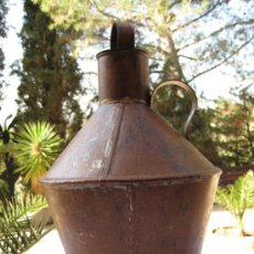 Antigüedades: CANTARA METALICA ANTIGUA EN HOJALATA.. Lote 34222722