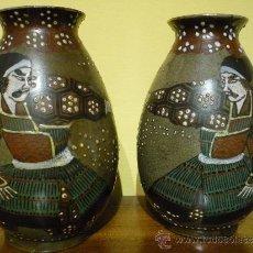 Antigüedades: PAREJA DE JARRONES SATSUMA .JAPON. PRINCIPIOS SIGLO XX. FIRMADOS.. Lote 34223626