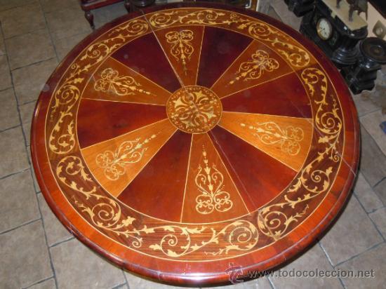 Antigüedades: MESA ANTIGUA TIPO VELADOR TARACEADA - Foto 11 - 34322821