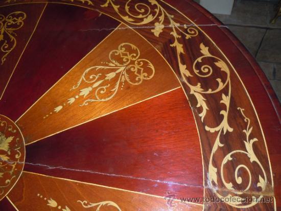 Antigüedades: MESA ANTIGUA TIPO VELADOR TARACEADA - Foto 10 - 34322821