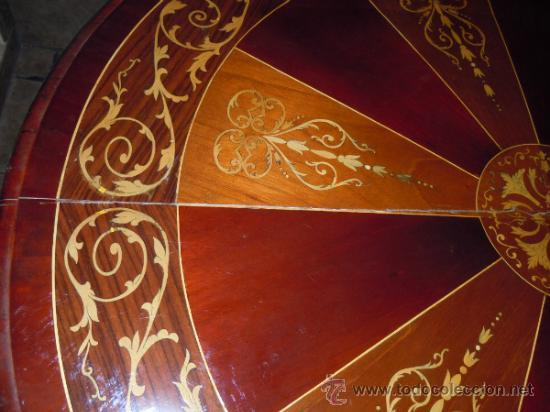 Antigüedades: MESA ANTIGUA TIPO VELADOR TARACEADA - Foto 15 - 34322821