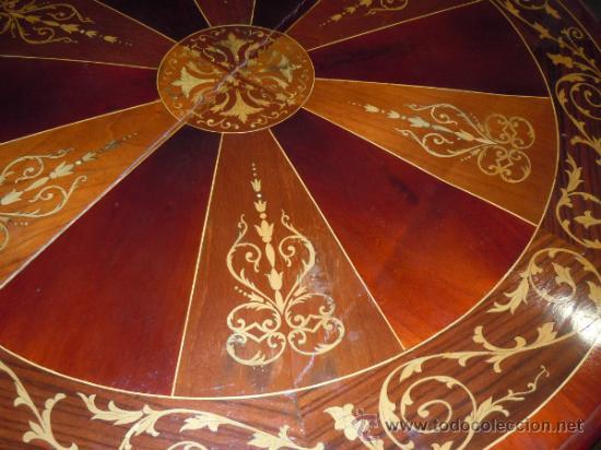 Antigüedades: MESA ANTIGUA TIPO VELADOR TARACEADA - Foto 14 - 34322821