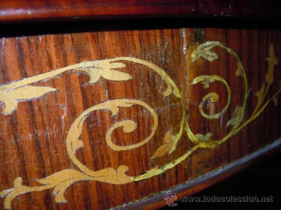 Antigüedades: MESA ANTIGUA TIPO VELADOR TARACEADA - Foto 3 - 34322821