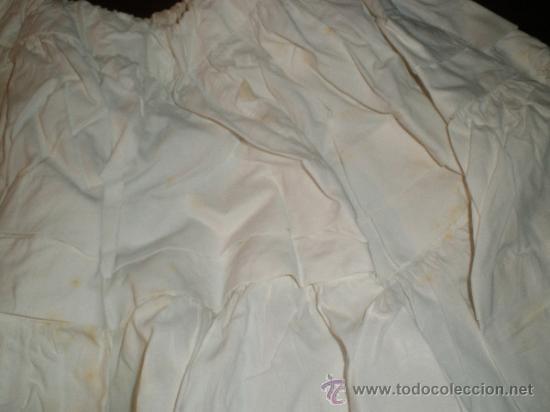 Antigüedades: faldon ,falda trozo tela - Foto 8 - 34219181